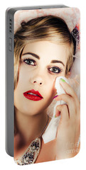 Bride Crying Tears Of Joy During Marriage Vows Portable Battery Charger