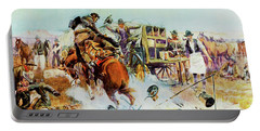Bronc For Breakfast Portable Battery Charger