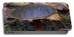 Portable Battery Charger featuring the photograph Brown Toadstool by Chalet Roome-Rigdon