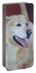 Portable Battery Charger featuring the painting Buddy by Sharon Schultz