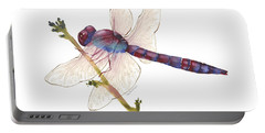 Burgundy Dragonfly  Portable Battery Charger