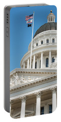 California State Capitol In Sacramento Portable Battery Charger