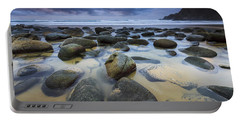 Portable Battery Charger featuring the photograph Campelo Beach Galicia Spain by Pablo Avanzini