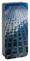 Canary Wharf Tower Portable Battery Charger by David Pyatt
