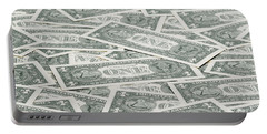 Portable Battery Charger featuring the photograph Carpet Of One Dollar Bills by Lee Avison