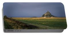 Castle On A Hill, Mont Saint-michel Portable Battery Charger