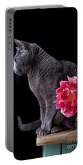 Cat And Tulip Portable Battery Charger