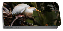 Cattle Egret In A Tree Portable Battery Charger