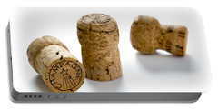 Portable Battery Charger featuring the photograph Champagne Corks by Lee Avison