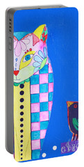 Checkered Cat Portable Battery Charger