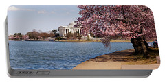 Cherry Blossom Trees In The Tidal Basin Portable Battery Charger