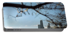 Chicago Skyline View Portable Battery Charger