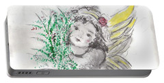 Christmas Angel Portable Battery Charger by Laurie L