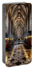Church Interior Portable Battery Charger by Adrian Evans