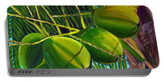 Coconuts At Sunset Portable Battery Charger