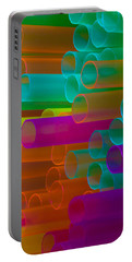 Colored Tubes Portable Battery Charger by Edgar Laureano