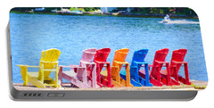 Colorful Chairs Portable Battery Charger
