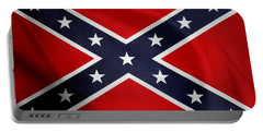 Confederate Flag Portable Battery Charger by Les Cunliffe