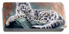 Copper Snow Leopard Portable Battery Charger