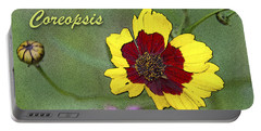 Coreopsis Flower And Buds Portable Battery Charger