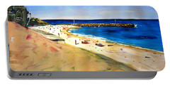 Portable Battery Charger featuring the painting Cottesloe Beach by Therese Alcorn