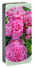 Country Peonies Portable Battery Charger by Will Borden