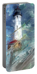 Crisp Point Lighthouse Michigan Portable Battery Charger
