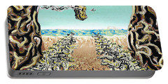 Portable Battery Charger featuring the painting Cult Erie by Ryan Demaree