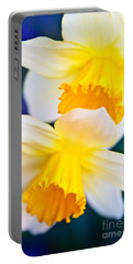 Portable Battery Charger featuring the photograph Daffodils by Roselynne Broussard