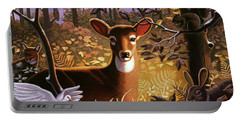 Deer In The Forest Portable Battery Charger