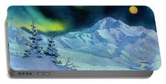 Denali Night Portable Battery Charger by Teresa Ascone