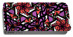 Portable Battery Charger featuring the digital art Digi-flora by Elizabeth McTaggart