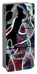 Portable Battery Charger featuring the painting Dinka by Gloria Ssali