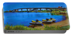 Portable Battery Charger featuring the painting Do You Sea Doo by Deborah Boyd