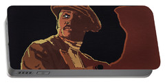 Portable Battery Charger featuring the painting Donny Hathaway by Rachel Natalie Rawlins