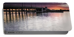 Drawbridge At Sunset Portable Battery Charger by Fran Gallogly