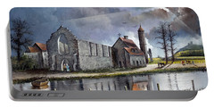 Portable Battery Charger featuring the painting Dudley Priory C1700s by Ken Wood
