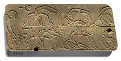 Egyptian Hieroglyphs On The Wall Portable Battery Charger