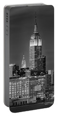 Empire And Chrysler Buildings Portable Battery Charger