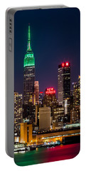 Empire State Building On Saint Patrick's Day Portable Battery Charger