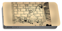 Portable Battery Charger featuring the drawing Escape by Reynold Jay