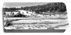 Portable Battery Charger featuring the photograph Evergreen Lake House Winter by Ron White