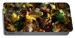 Portable Battery Charger featuring the digital art Fallen Leaves by Ron Harpham