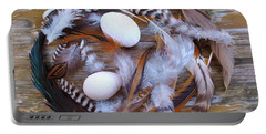 1. Feather Wreath Example Portable Battery Charger