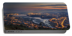 Ferrol's Ria Panorama From Mount Ancos Galicia Spain Portable Battery Charger