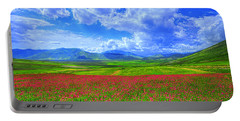 Fields Of Dreams Portable Battery Charger by Midori Chan