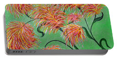 Portable Battery Charger featuring the painting Fireworks by Alys Caviness-Gober