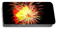 Fireworks Over Chesterbrook Portable Battery Charger by Michael Porchik