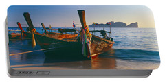 Fishing Boats In The Sea, Phi Phi Portable Battery Charger