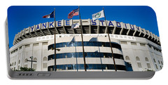 Flags In Front Of A Stadium, Yankee Portable Battery Charger